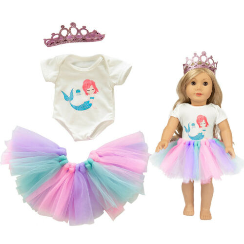 Cute Tutu Skirt Clothes Coat Girl Toy For 18 inch Doll Accessory Gril/'s Toy