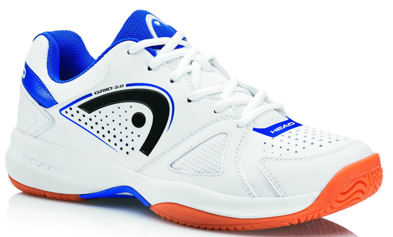 Rejilla de cabeza 2.0 blancoo Azul Marino Para Hombres  Zapatos Tribunal De Interior-Badminton, Squash, vb  edición limitada