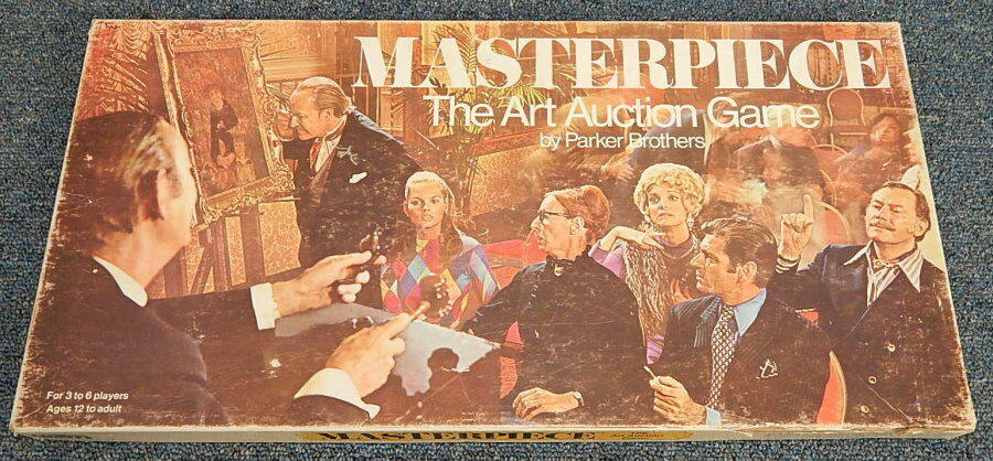 Jahrgang 1970 parker brothers meisterwerk kunstauktion brettspiel komplett r11584