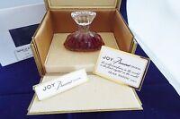 Joy Perfume Jean Patou Baccarat Crystal 1.0 Oz / 30 Ml W/ Boxes -
