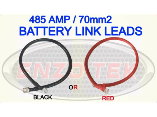 485 AMP CAR BATTERY POWER EARTH CABLE CHOOSE COLOUR LENGTH TERMINAL HOLE SIZES