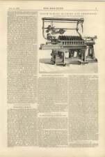 1900 Major Louis Seymour, Paving Block Sawing Machine John Pickles Hebden Bridge