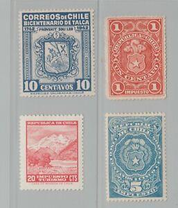 Chile-revenue-stamp-Fiscal-5-24-20-mint-gum