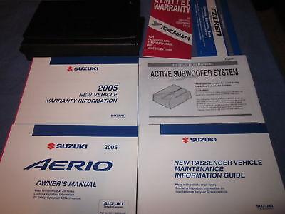 2006 SUZUKI Aerio RH423 Factory Service Repair Workshop Manual Set OEM Binder