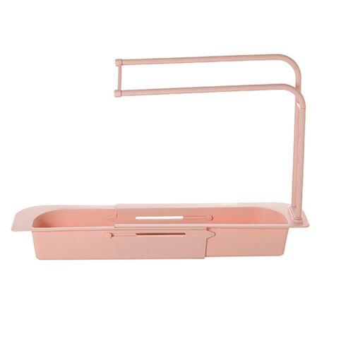 Telescopic Sink Rack Holder Expandable Storage Drain Basket for Home Kitchen Kit