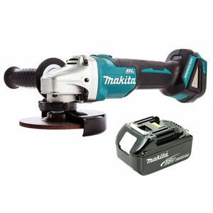 Makita-DGA506Z-18-V-sans-balai-Meuleuse-d-039-angle-125-mm-avec-1-x-3Ah-Batterie