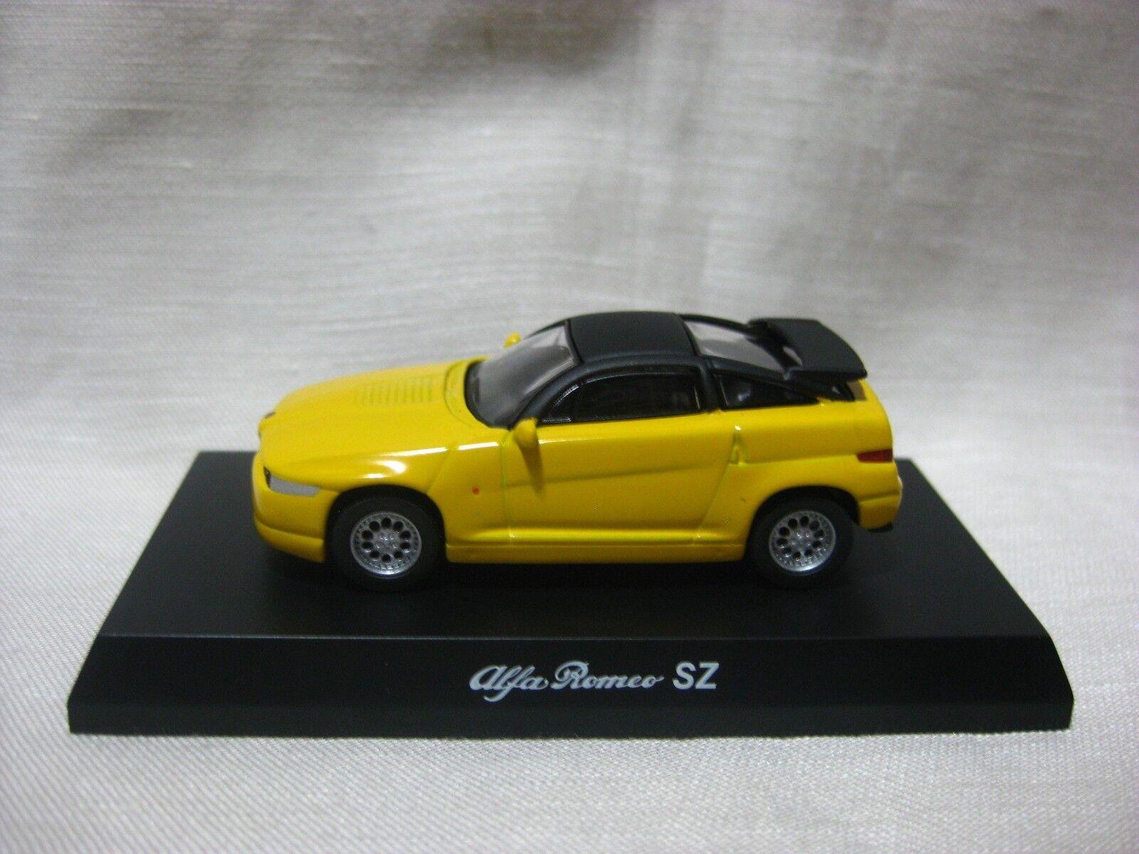 1 64 Kyosho Alfa Romeo SZ gul tärningskast modelllllerler Bil