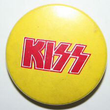 """KISS Old Vtg Early 70s/80`s Button Pin Badge(25mm-1"""")not shirt lp cd patch tour"""