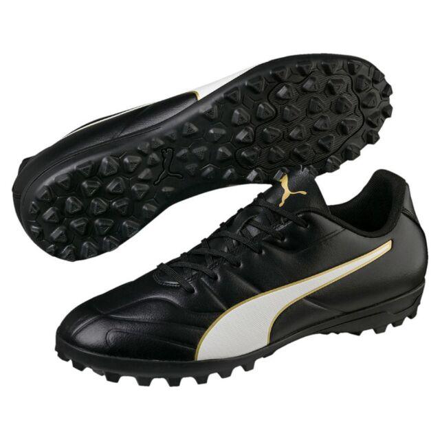 Puma Classico C II TT Mens Football Soccer Boots Cleats Black White Gold