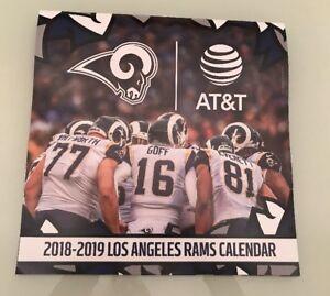 Nfl Calendar 2019 NFL RAMS Wall CALENDAR 2018 2019 At&t Goff Hekker Gurley   eBay
