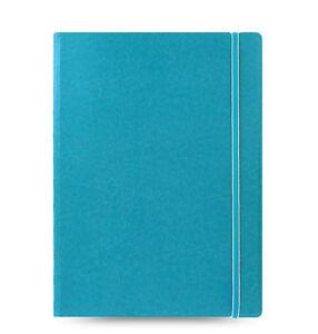 Filofax-A4-Size-Refillable-Leather-Look-Ruled-Notebook-Book-Diary-Aqua-115027