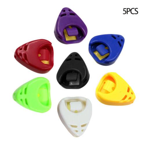 5* Guitar Gitarre Plektrenhalter Plektrumhalter Plektren Picks Kunststoff G F0X1
