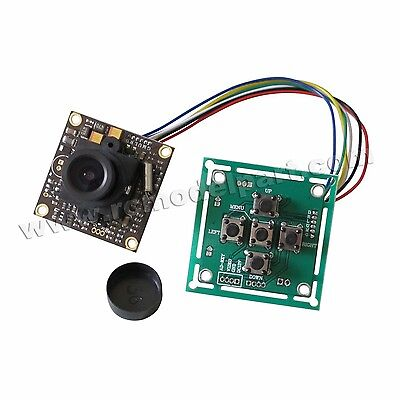 2.8mm Lens FPV 700TVL Sony Super HAD II CCD WDR Board Camera+OSD Control Panel