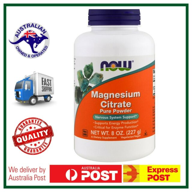 Magnesium Citrate Pure Powder 8oz (227g) by NOW Foods Nervous System Support 21