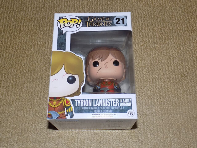 FUNKO, POP, TYRION LANNISTER IN BATTLE ARMOR, GAME OF THRONES #21, VINYL FIGURE