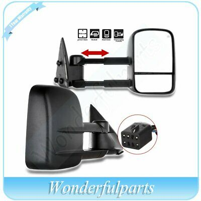 Left+Right Side Mirror Power Heated Door Tow Mirrors for 99-2002 Chevy GMC Truck