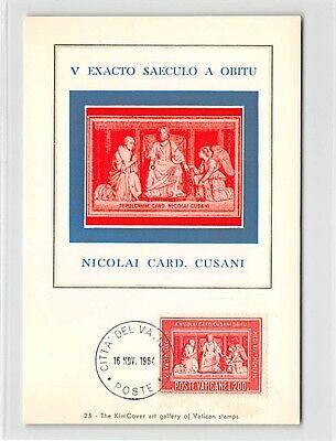 Maximumkarten Honig Vatican Mk 1964 Nikolaus Von Kues Grabmal Maximumkarte Maximum Card Mc Cm D9699 FüR Schnellen Versand