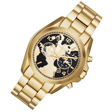 3c63b04de17c 100% New Michael Kors Unisex World Gold-Tone Map Face Dial 43mm Watch MK6272