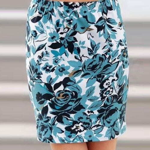 Ingénieux fleuris Mini Jupe Stretch Minijupe roses taille 36//38 S//M bleu noir