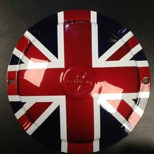 "Spare wheel hub cap Union Jack 10"" 2 hole Innocenti logo for Lambretta"