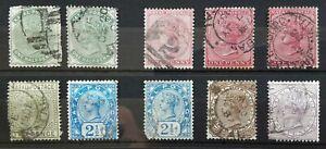 Natal 1874 - selection of QV definitives 1/2d - 6d