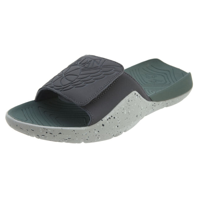 3719f9d1208 Jordan Hydro 7 Mens AA2517-035 Dark Tech Grey Clay Green Slide Sandals Size  8