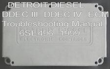 DETROIT DIESEL DDEC 3 DDEC 4 ECM Troubleshooting Manual 6SE496  1999      CD