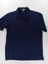BMW LifeStyle Short Sleeve Cotton Polo Shirt (Mens Large) Blue