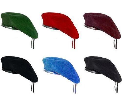 Stile dell/'Esercito Berretto Tattici Cappello Classico Unisex Da Uomo Militare Pattuglia Cappello Lana Nero