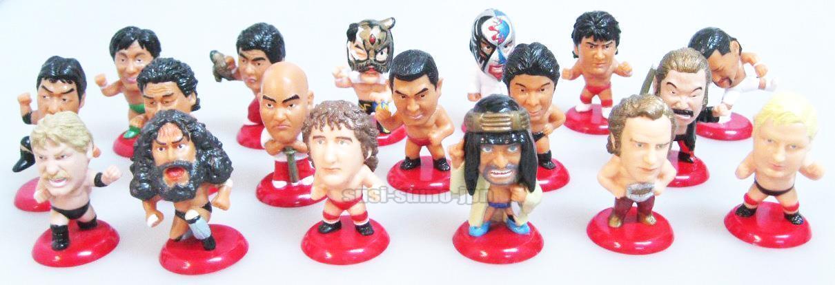 NJPW AJPW PRO WRESTLING MINI BIG HEAD FIGURE Stan Hansen Brody Jumbo Tsuruta