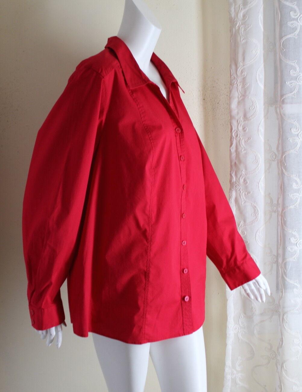NWT CJ Banks -Sz 3X Soft rot Crisp Cotton Spandex Elegant Dress Shirt