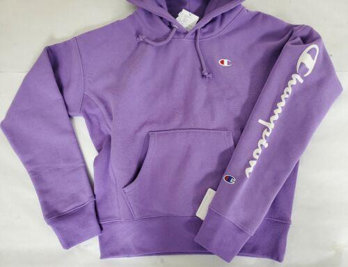Champion Youth Small Lavender Purple Lavish Reverse Weave Hoodie Arm Logo RARE