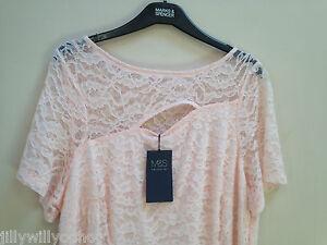 8 pizzo Size s Pink in etichettato M Regular spedizione vestito gratuita Foderato Blush EBqUn58F5