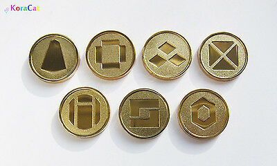 Pokemon: Battle Frontier Symbols - Gen 3 - Set of 7 Metal Coins