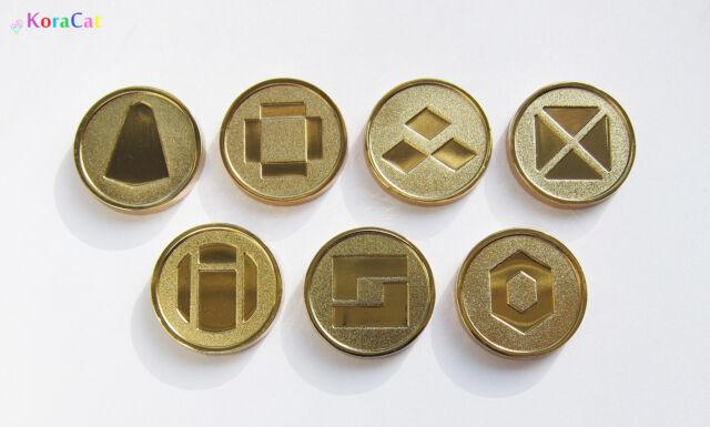 Pokemon: Battle Frontier Symbols - Gen 3 - Set of 7 Metal Coins