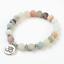 miniature 24 - Crystal Gemstone Bead Bracelet Chakra Natural Stone Reiki Healing Anxiety Stress