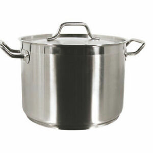 Commercial Grade Stainless Steel : New Professional Commercial Grade 18/8 Stainless Steel Stock Pot W/Lid ...