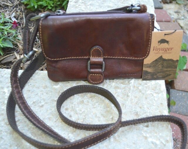 Jack Georges Voyager Collection Small Cross Body Bag Brown 7610 Brn