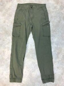 Levis-Men-039-s-Green-Cotton-Blend-Casual-Cargo-Jogger-Pant-Sz-32x34