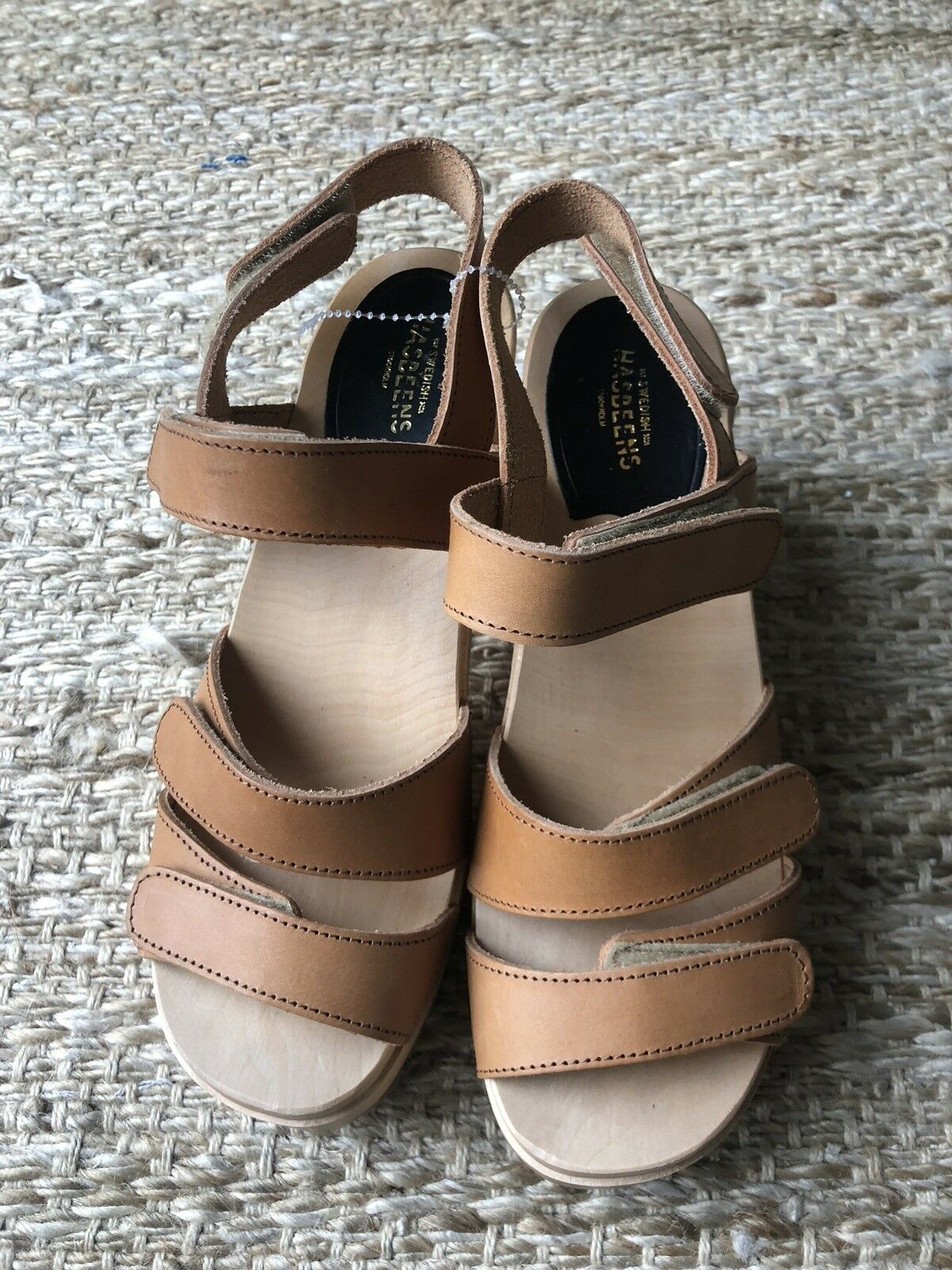 New Swedish Hasbeens donna Velcra High Heel Velcro donna Sandals Sandals Sandals Dimensione 40 f73b10