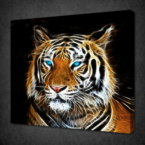 ABSTRACT TIGER CANVAS PICTURE PRINT WALL ART FREE FAST DELIVERY