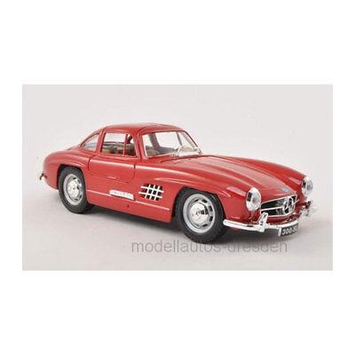 Bburago 22023 Mercedes Benz 300 SL rot Maßstab 1:24 Modellauto NEU!°