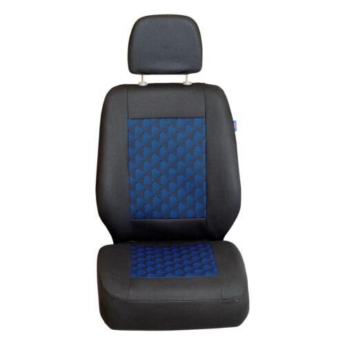 Schwarz-Blaue 3D Effekt Sitzbezüge Opel Vivaro Autositzbezug Set 1+2