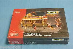 Faller-140353-two-fairground-booths-Kit-HO