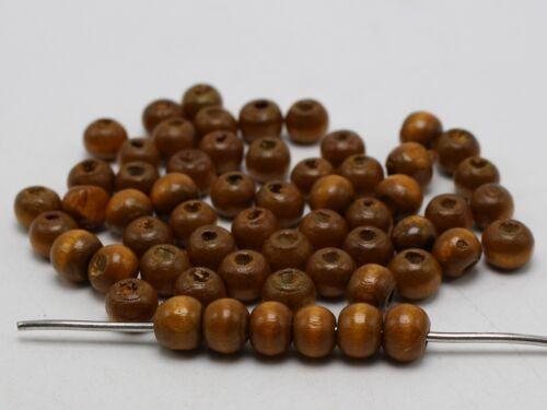 500 rond en bois perles 8 mm bois perles couleur Pick Jewelry Making