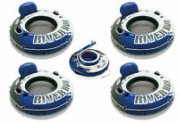 Intex River Run I Inflatable Floating Tube Raft (4-pack) With Mega Chill Cooler on sale