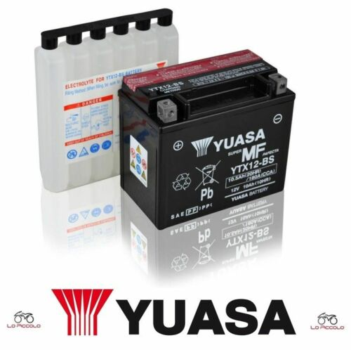 BATTERIA YUASA YTX12-BS TRIUMPH Scrambler 865 2006 2007 2008 2009 2010 2011 2012