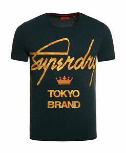 New-Mens-Superdry-City-Brand-Camo-T-Shirt-Forest-Green-Grit