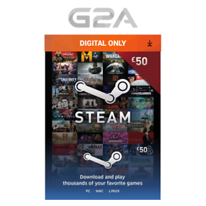 Details about £50 Steam Gift Card - 50 GBP Pounds UK Steam Wallet - Digital  Prepaid Gift Card