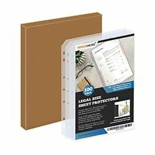 New Listing 100 Pack Of 85 X 14 Legal Size Clear Sheet Protectors Plastic Page